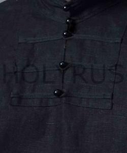 Рубаха Holyrus Иван Грозный черная - застежка