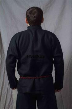 Рубаха Holyrus Иван Грозный черная - вид сзади с поясом