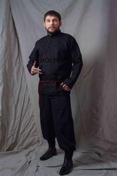 Рубаха Holyrus Иван Грозный черная - в полный рост
