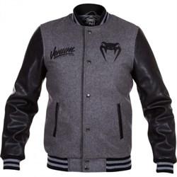 Куртка Venum Shockwave Varsity Jacket - Black/Grey - фото 11291