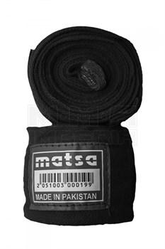 Бинт Matsa боксерский черный 3м.