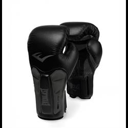 Перчатки боксерские Everlast Prime Leather Черно-Серые - фото 12667