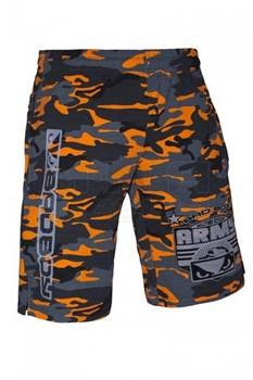 Шорты Bad Boy Army Division оранжевый камуфляж