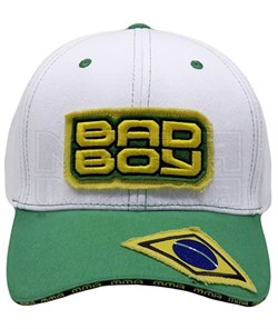 Бейсболка Bad Boy Jiu Jitsu бело-зеленая