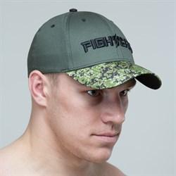 Бейсболка Fight Team зеленый-милитари - вид спереди