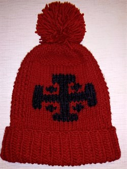 Шапка Holyrus Иерусалимский Крест красная - фото 20722