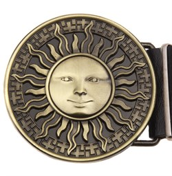 Кожаный ремень Holyrus Солнце - фото 20800
