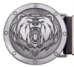 Кожаный ремень Holyrus Медведь - фото 20814