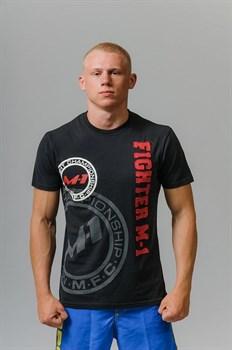 Футболка Fighter M-1 лого черная