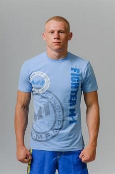 Футболка Fighter M-1 лого голубая