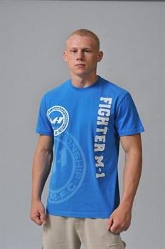 Футболка Fighter M-1 лого синяя