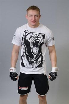 Футболка М-1 Медведь белая