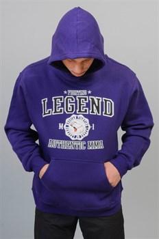 Толстовка Fighting Legend фиолетовая - в капюшоне наклонил голову