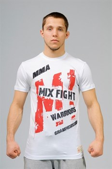 Футболка M-1 Warriors Mixfight белая