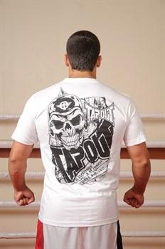 Футболка Tapout Death Corps белая - вид сзади