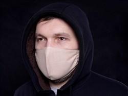 Многоразовая маска для лица защитная льняная - фото 43447