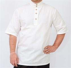 Рубаха Holyrus с коротким рукавом белая - фото 43789