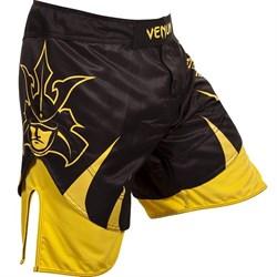 Шорты Venum Shogun Signature Fightshorts черно-желтые - перед правым боком