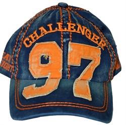 Бейсболка М-1 Grand Prix сине-оранжевая - вид спереди