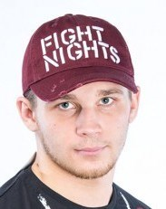 Бейсболка Fight Nights бордовая