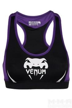 Топ Venum Women Body Fit черно-фиолетовый - вид спереди