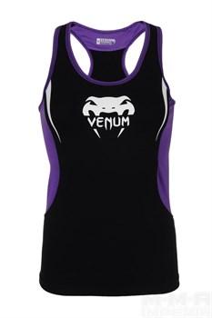 Майка Venum Women Body Fit черно-фиолетовая