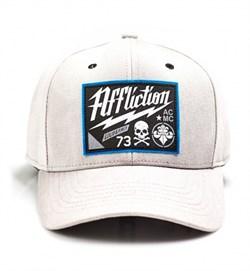 Кепка Affliction Twisted Iron Hat серая