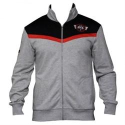 Толстовка UFC Sponsor Zip Fleece Grey - фото 6985
