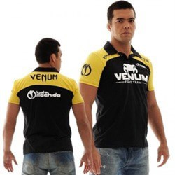 Поло Venum Lyoto Machida UFC Edition - Black/Yellow - фото 7949
