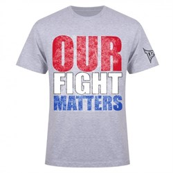 Футболка Tapout Our Fight Matters Men's T-Shirt Heather - фото 8420