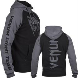 Толстовка Venum Pro Team 2.0 Hoody - Black/Grey - фото 8456