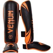 Щитки Venum Challenger - Neo Orange/Black