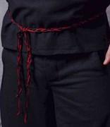 Пояс Holyrus плетёный черно-красный