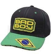 Бейсболка Bad Boy Jiu Jitsu черно-зеленая - вид спереди