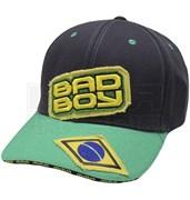 Бейсболка Bad Boy Jiu Jitsu черно-зеленая 2