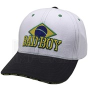 Бейсболка Bad Boy Brazilian бело-черная