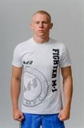 Футболка Fighter M-1 лого белая