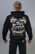 Толстовка мужская Mixfight Russia черная - вид сзади