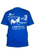 Футболка М-1 MMA Russia синяя