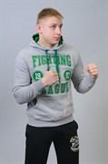 Толстовка M-1 Fighting League серо-зеленая - в стойке боком