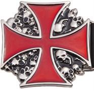 Ремень Holyrus мужской с пряжкой Крест в Черепах