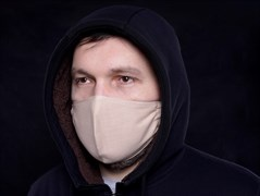 Многоразовая маска для лица защитная льняная