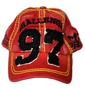 Бейсболка М-1 Grand Prix красно-черная - вид спереди