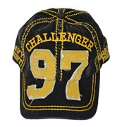 Бейсболка М-1 Grand Prix черно-желтая - вид спереди