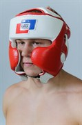 Боксерский шлем союз ММА России натуральная кожа