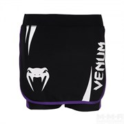 Юбка-шорты Venum Women Body Fit черно-фиолетовая - вид спереди