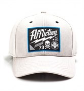 Кепка Affliction Twisted Iron Hat серая