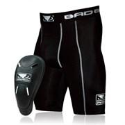 Компрессионные шорты с ракушкой Bad Boy Defender Compression Shorts & Cup