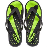 Сланцы Venum Hurricane Sandals - Black/Neo Yellow
