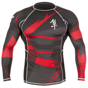 Рашгард Hayabusa Metaru Rashguard Black/Red L/S